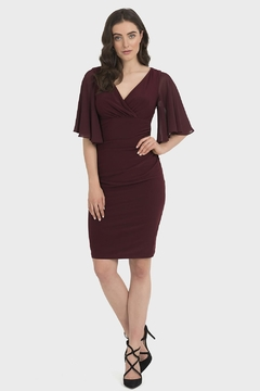 Joseph Ribkoff Samantha Blackberry Dress - Product List Image