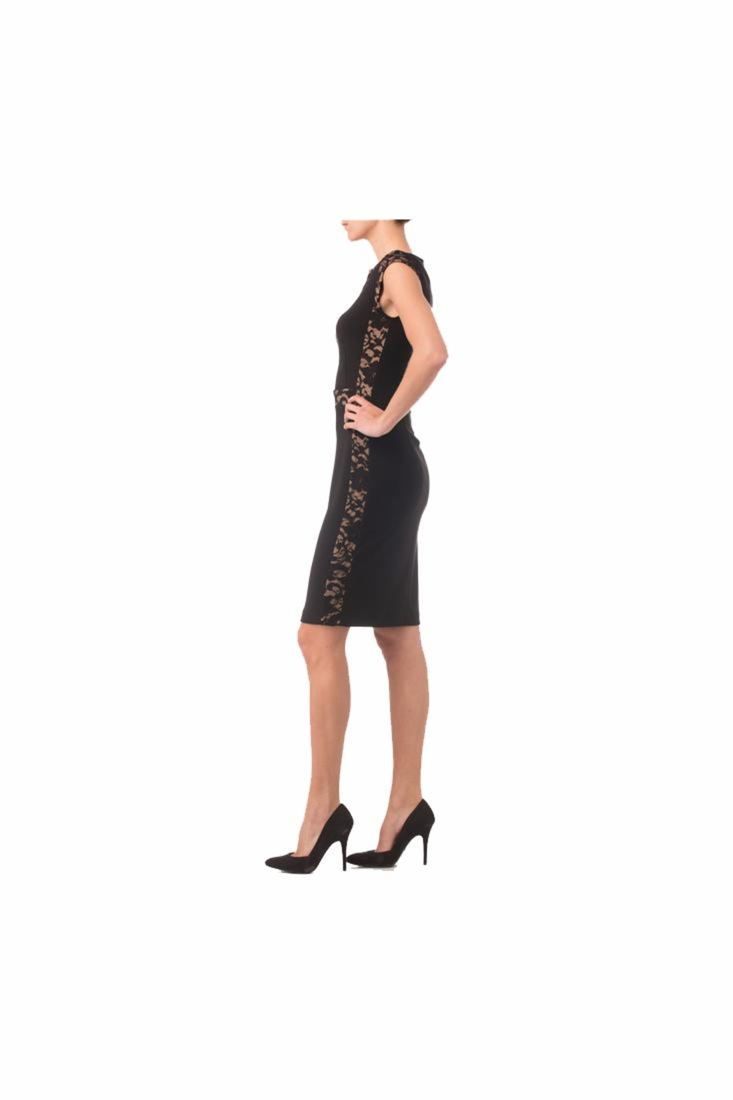Joseph Ribkoff Black sheath Dress - Side Cropped Image