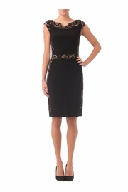 Joseph Ribkoff Black sheath Dress - Front cropped
