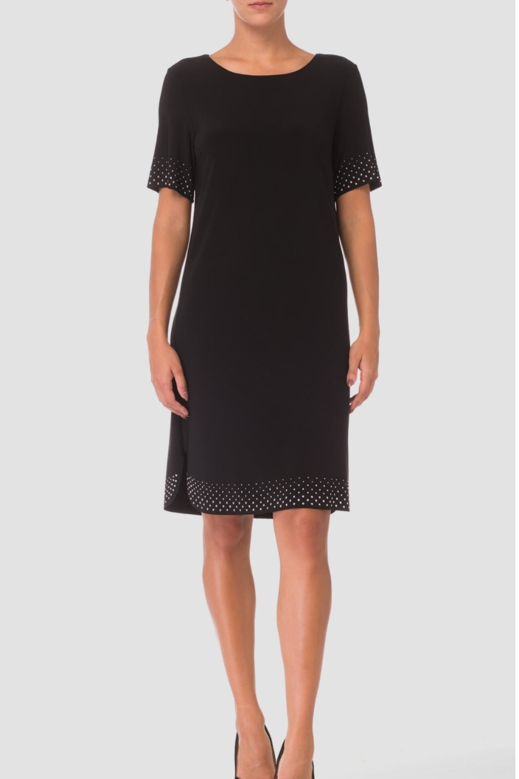Joseph Ribkoff Sequin Trim Dress - Front Cropped Image
