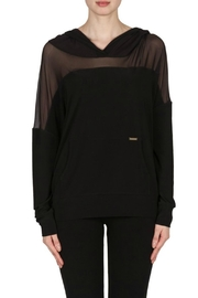 Joseph Ribkoff Black Sheer Hoddie - Product Mini Image
