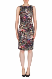 Joseph Ribkoff Shimmer Multicolored Dress - Front cropped
