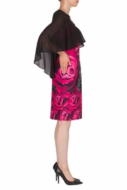 Joseph Ribkoff Shrug Overlay Dress - Front full body