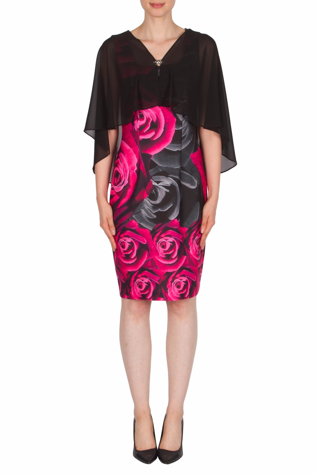 Joseph Ribkoff Shrug Overlay Dress - Front Cropped Image