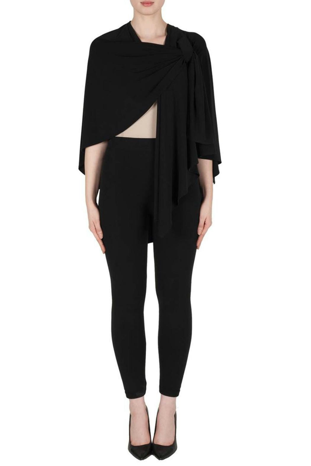 Joseph Ribkoff Silky Knit Cape - Front Cropped Image