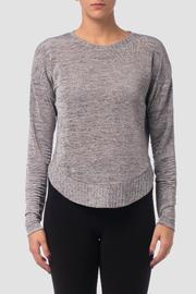 Joseph Ribkoff Silver Knit Top - Product Mini Image