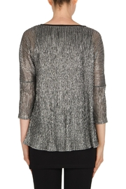 Joseph Ribkoff Silver Tunic Top - Side cropped