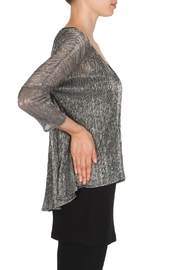 Joseph Ribkoff Silver Tunic Top - Front full body
