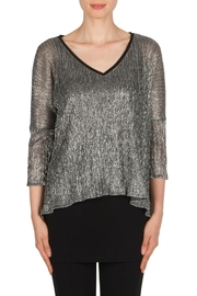 Joseph Ribkoff Silver Tunic Top - Product Mini Image