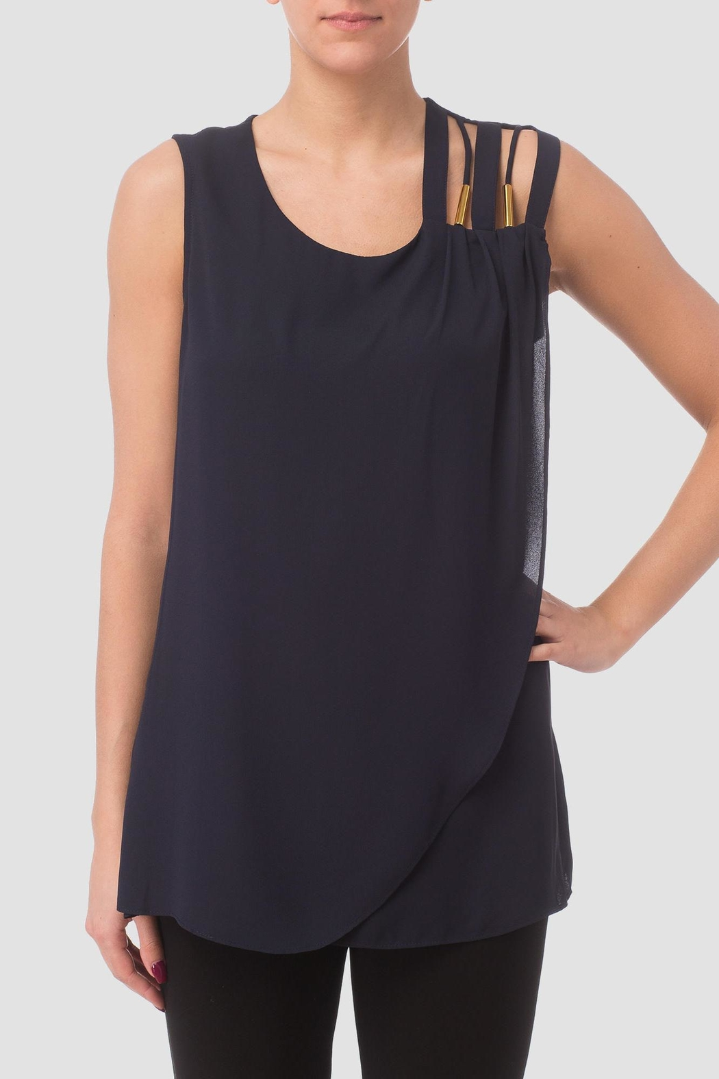 Joseph Ribkoff Sleeve Less Top - Front Cropped Image