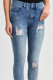 Joseph Ribkoff Slim Patchwork Denim - Product Mini Image