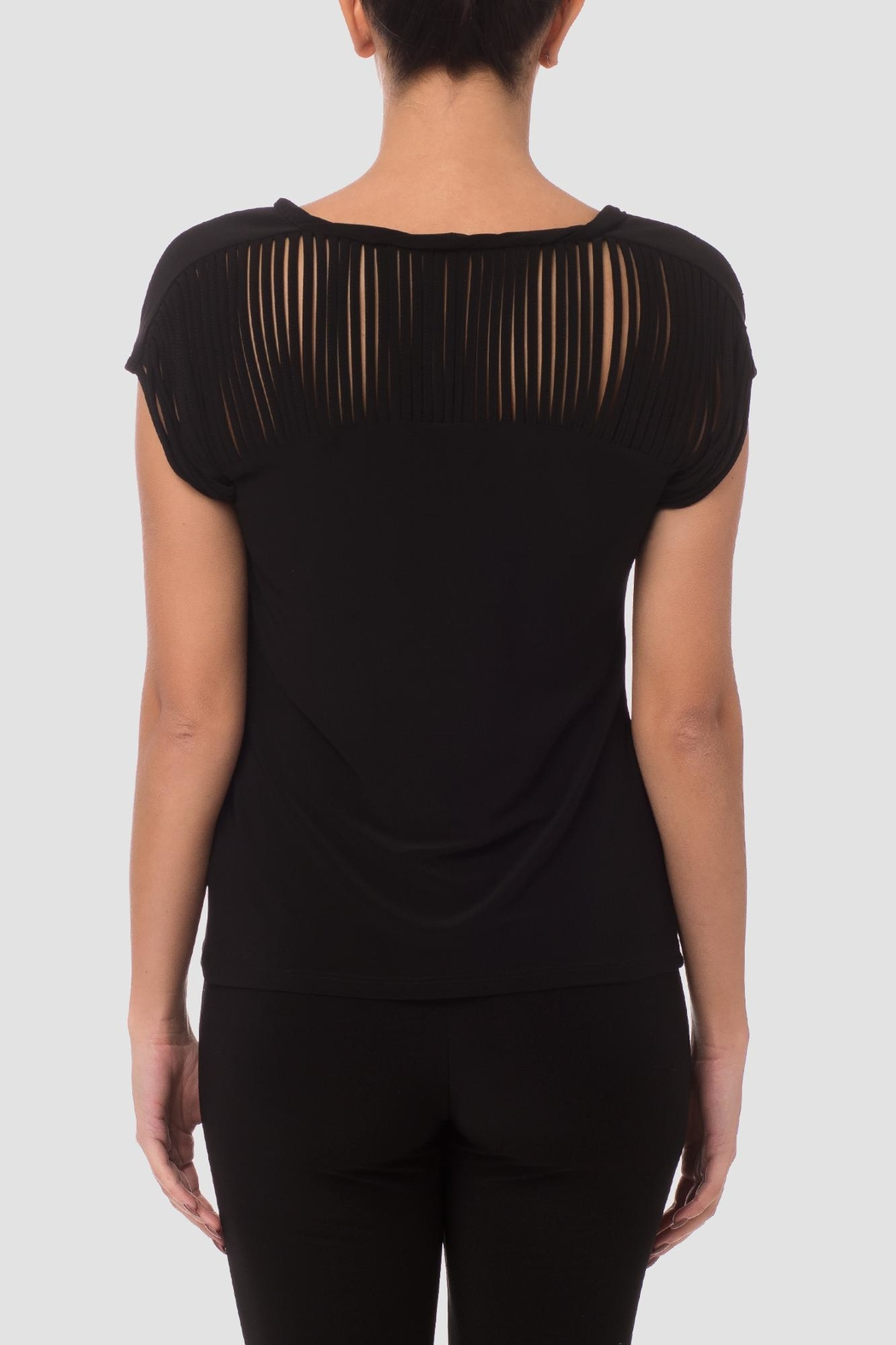 Joseph Ribkoff Slitted Sleeve Top - Front Full Image