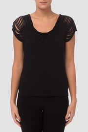 Joseph Ribkoff Slitted Sleeve Top - Front cropped