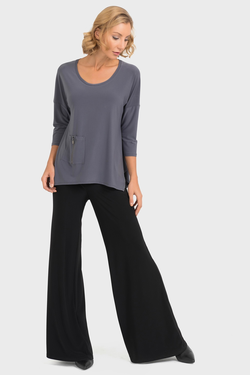 Joseph Ribkoff Smokey Grey Top - Main Image