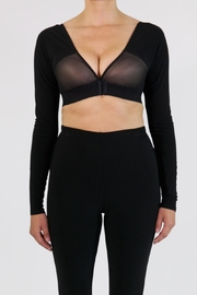 Joseph Ribkoff Black Sheer Crop Top - Product Mini Image