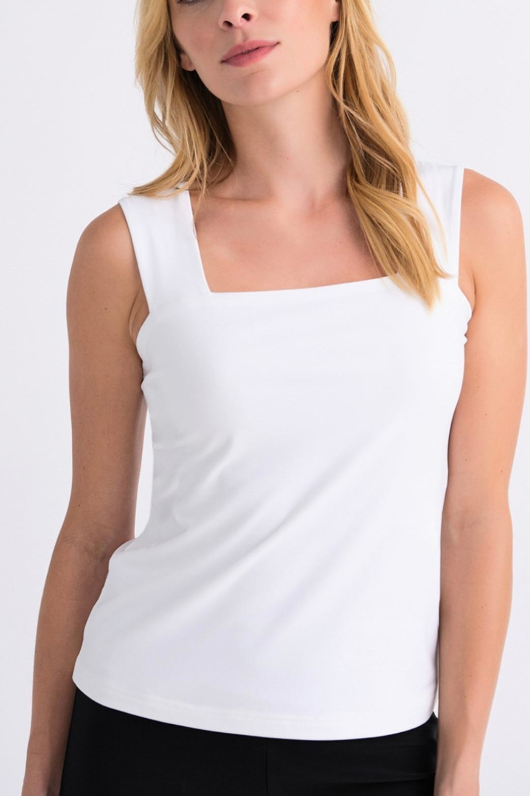 Joseph Ribkoff Square Neck Lined Tank - Front Cropped Image