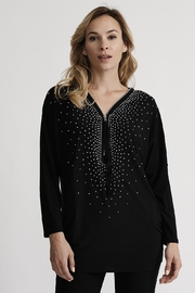 Joseph Ribkoff Starry Zip-Front Top - Product Mini Image