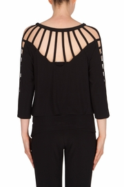 Joseph Ribkoff Strap Detailing Top - Side cropped