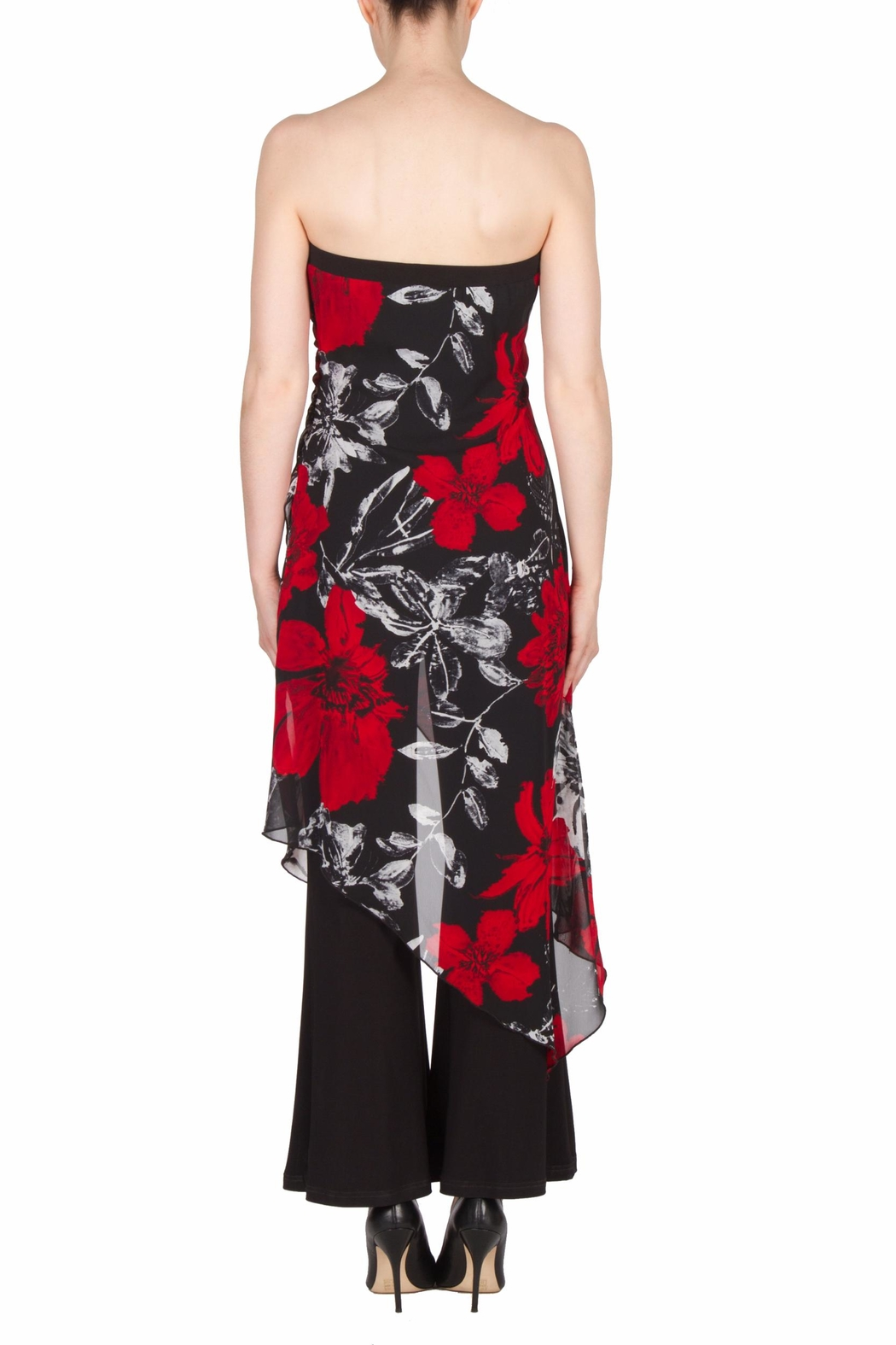 Joseph Ribkoff Strapless Floral Jumpsuit - Front Full Image