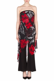 Joseph Ribkoff Strapless Floral Jumpsuit - Front cropped