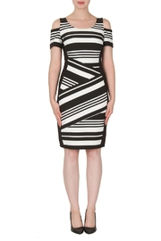 Joseph Ribkoff Stripe Cold Shoulder Dress - Product Mini Image