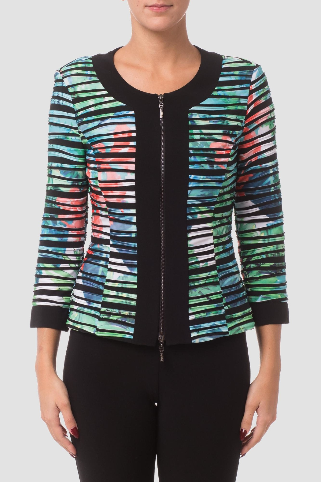 Joseph Ribkoff Striped Jacket - Front Cropped Image