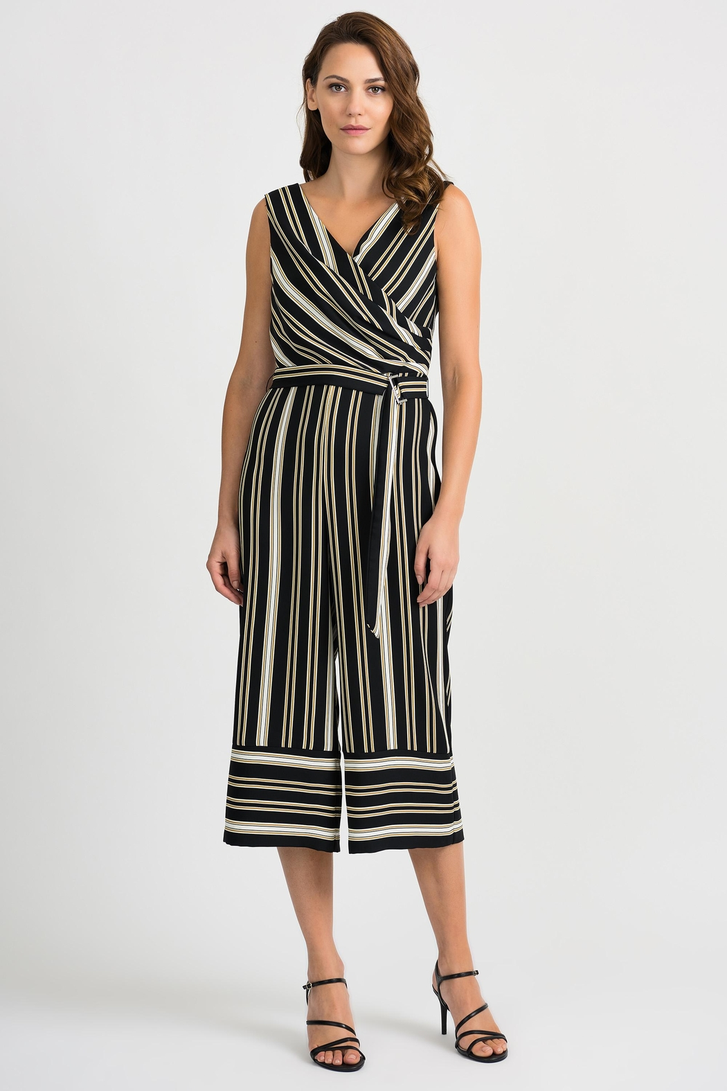 Joseph Ribkoff Striped Sleeveless Jumpsuit - Main Image