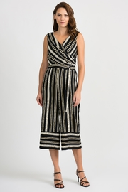 Joseph Ribkoff Striped Sleeveless Jumpsuit - Front cropped