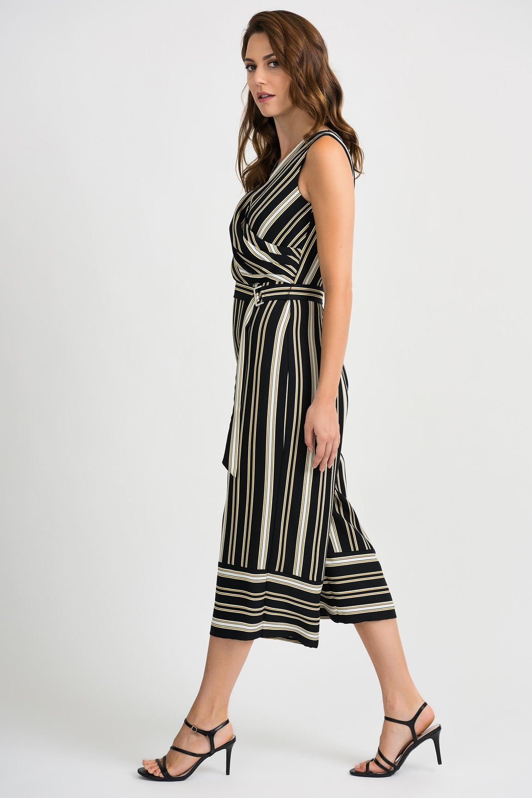 Joseph Ribkoff Striped Sleeveless Jumpsuit - Front Full Image