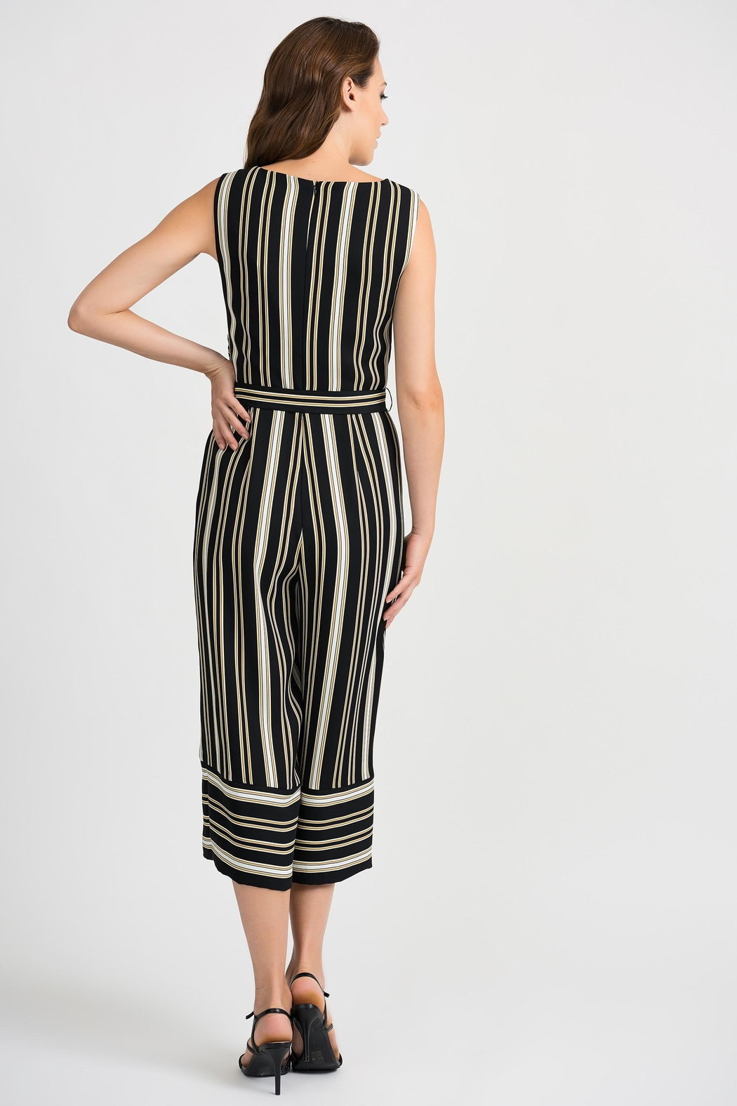 Joseph Ribkoff Striped Sleeveless Jumpsuit - Side Cropped Image
