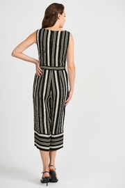 Joseph Ribkoff Striped Sleeveless Jumpsuit - Side cropped