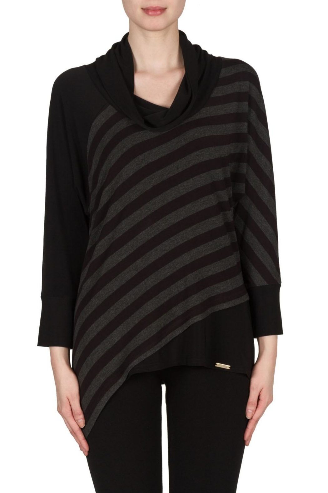 Joseph Ribkoff Striped Cowl Top - Main Image