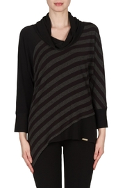 Joseph Ribkoff Striped Cowl Top - Front cropped