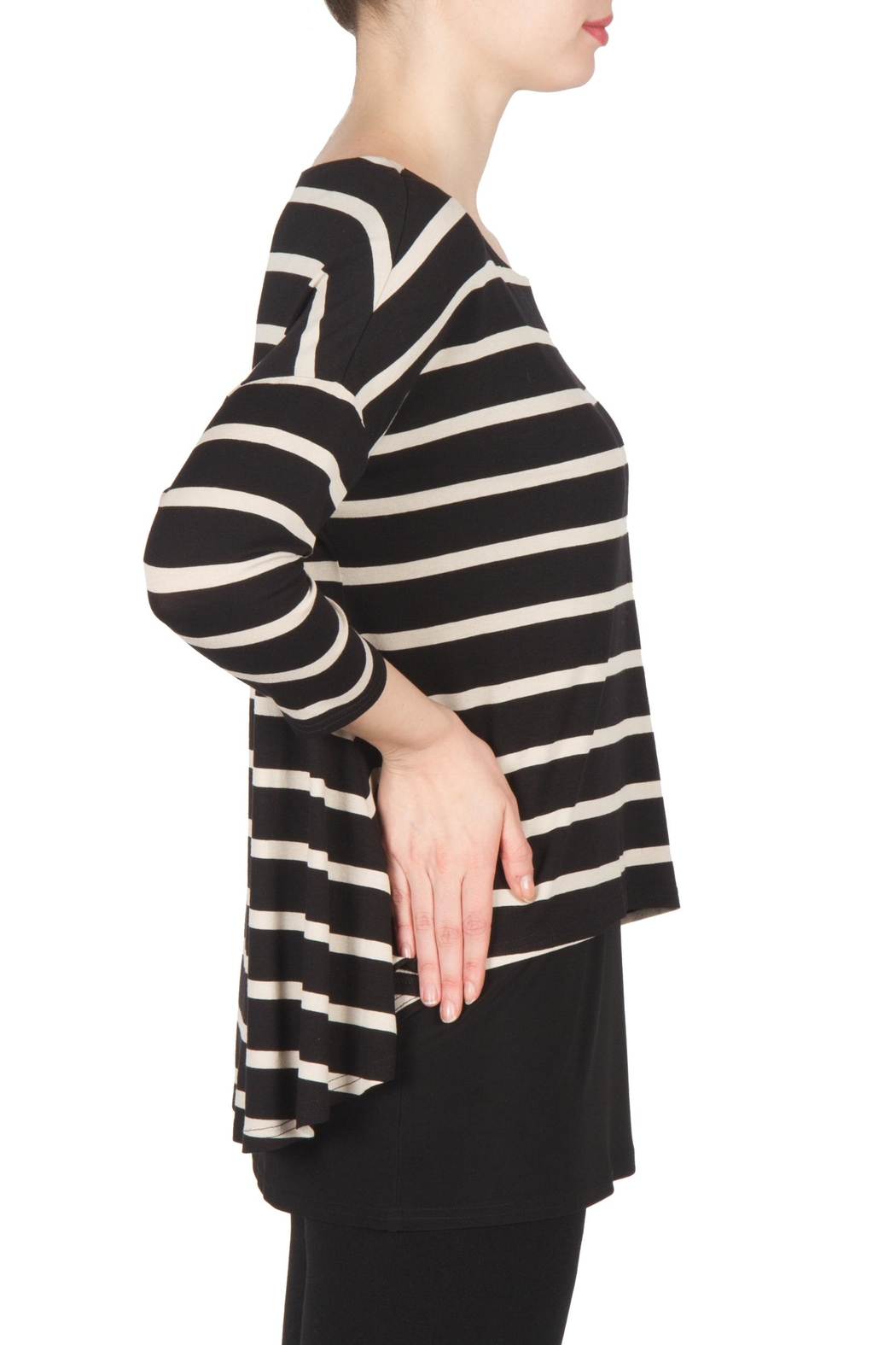 Joseph Ribkoff Striped Tunic Top - Front Full Image