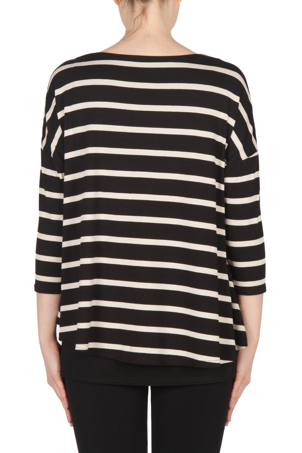 Joseph Ribkoff Striped Tunic Top - Side Cropped Image