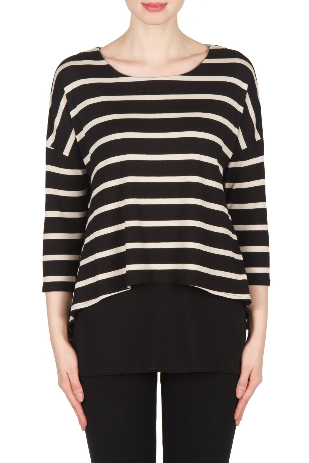 Joseph Ribkoff Striped Tunic Top - Main Image