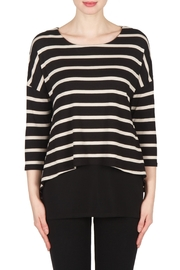 Joseph Ribkoff Striped Tunic Top - Front cropped