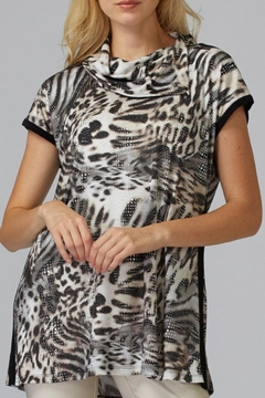 Joseph Ribkoff Studded Animal Tunic - Product List Image