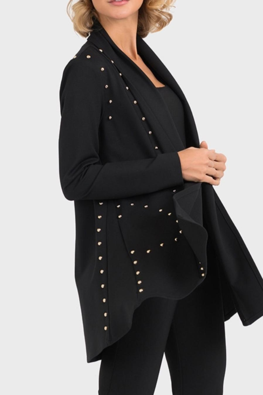 Joseph Ribkoff Studded Black Jacket - Main Image