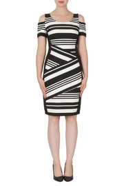 Joseph Ribkoff Textured Stripe Dress - Product Mini Image