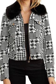 Joseph Ribkoff Textured Zip Jacket - Product List Image