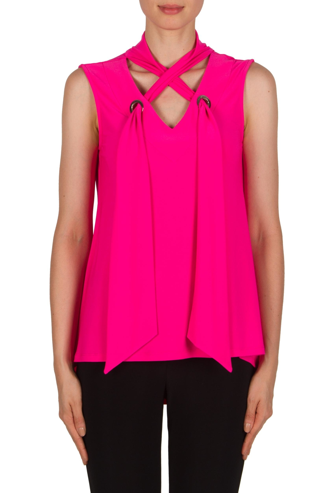 Joseph Ribkoff Tie Tank Tunic - Front Cropped Image
