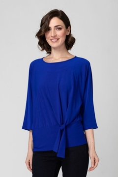 Joseph Ribkoff Tie-Up Accent Top - Product List Image