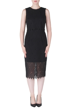 Joseph Ribkoff Tiered Crochet Dress - Product List Image