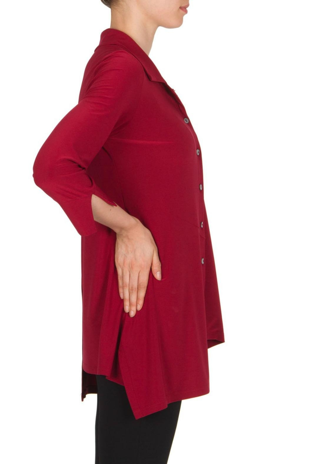 Joseph Ribkoff Tunic Claire Red Top - Front Full Image
