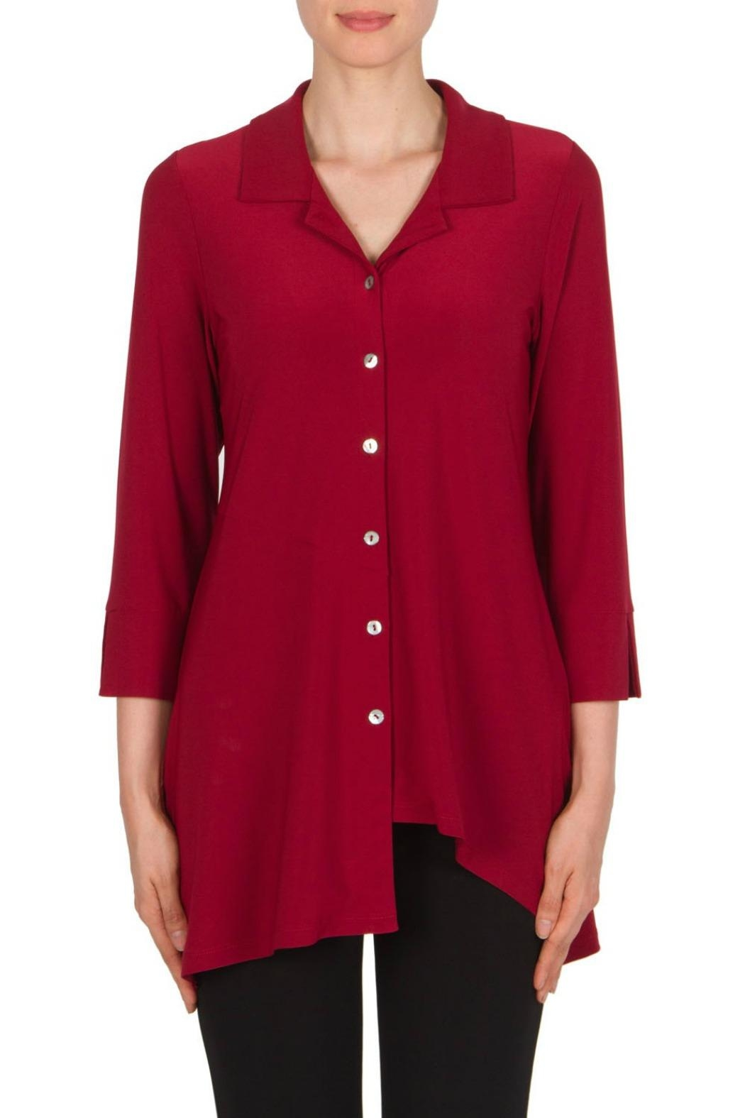 Joseph Ribkoff Tunic Claire Red Top - Front Cropped Image