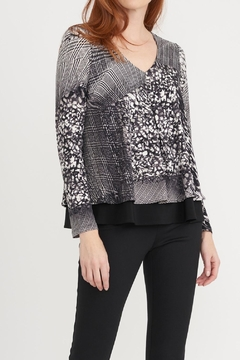Joseph Ribkoff V Neck Layer Print - Alternate List Image