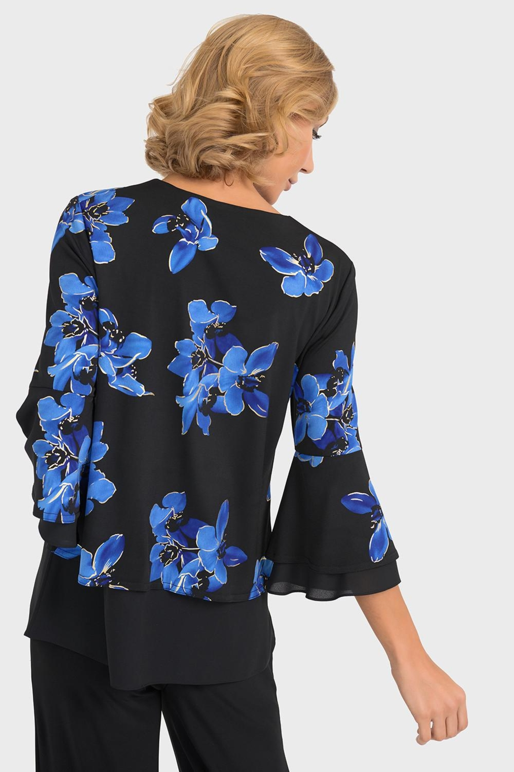 Joseph Ribkoff Veronica Floral Top - Side Cropped Image