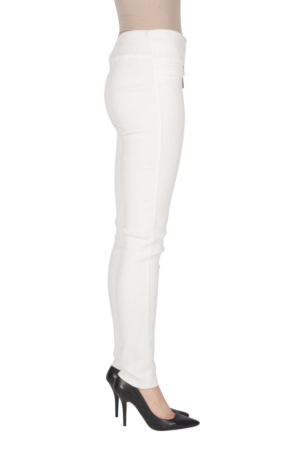 Joseph Ribkoff Winter White Pants - Front Full Image