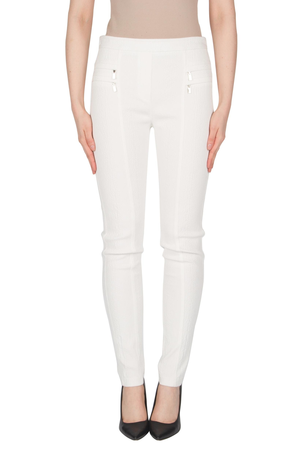 Joseph Ribkoff Winter White Pants - Front Cropped Image